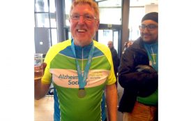 Cyclist's fundraising moves up a gear