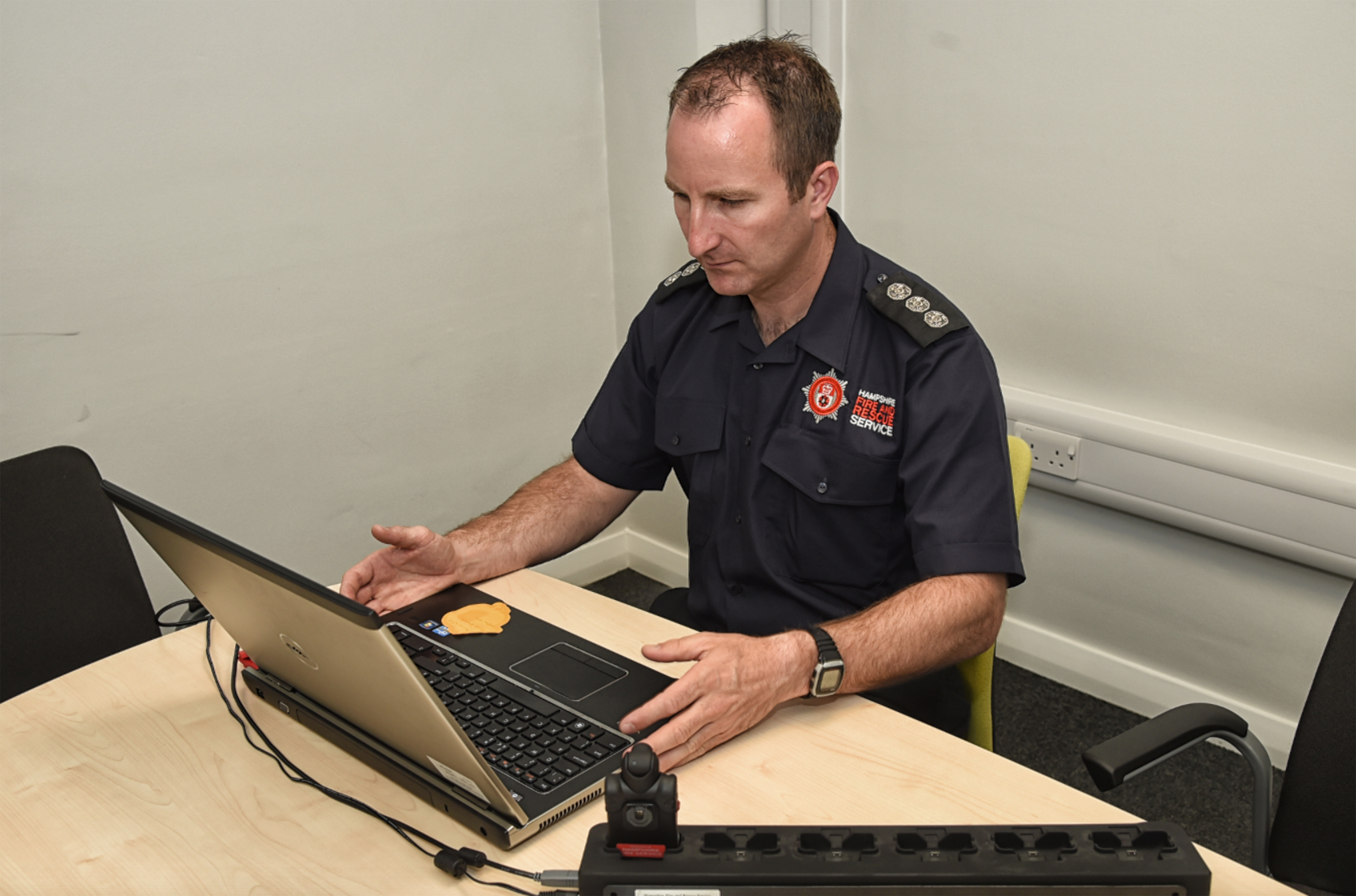 Hampshire firefighters to wear cameras in UK first