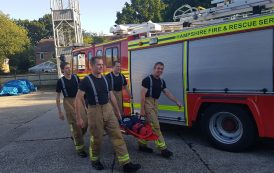 Tadley boy Oliver given helping hand by fundraising firefighters