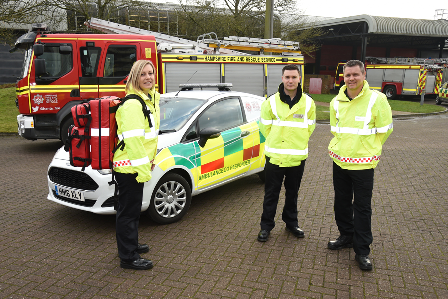 Emergency services collaboration is 'helping to save lives' in Hampshire
