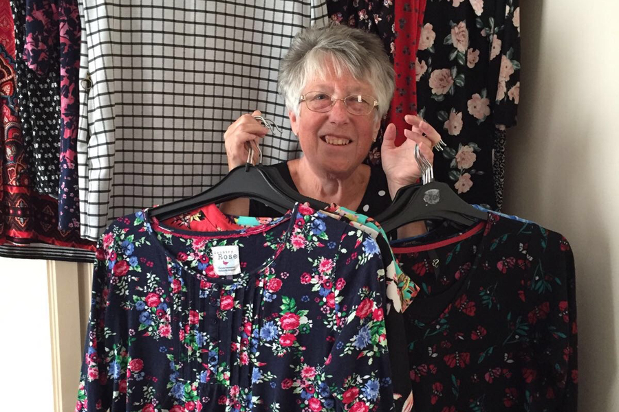 Brenda shares her story and clothes to highlight condition
