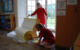 Pupils create book benches to celebrate Jane Austen's life