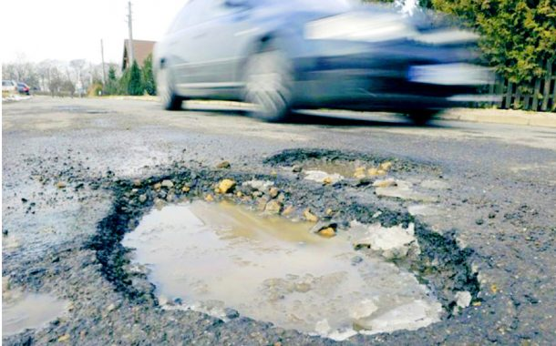 Suffering from the pothole plague as roads deteriorate