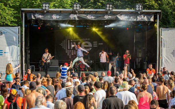 Alive and kicking at town's popular free music festival