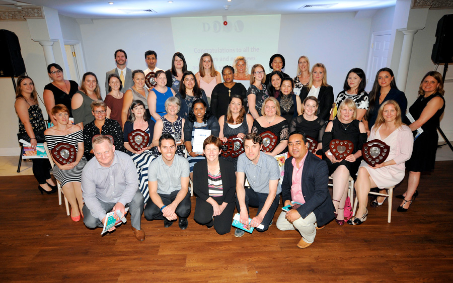 NHS staff given awards for going that extra mile
