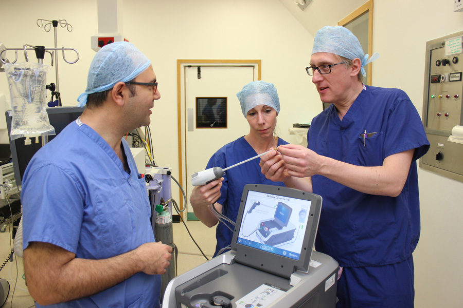 Basingstoke Hospital the pioneers of 'life changing' prostate treatment