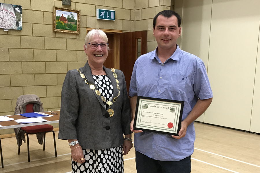 Tadley's Terry honoured for youth centre work