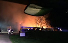 Seventy firefighters battle blaze at Kingsclere barn