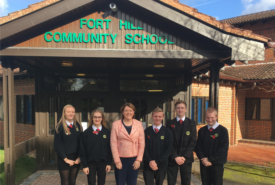 Lively discussion as MP meets pupils