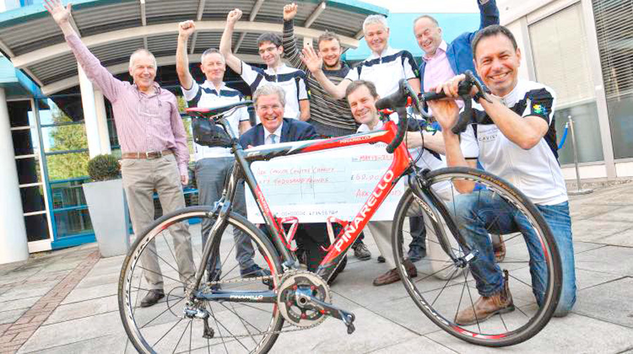 Cyclists' 965-mile trek raises £60k