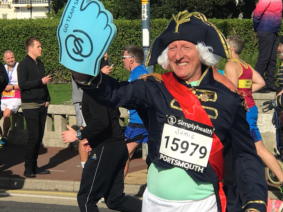 Victory for Jamie as he runs to raise cash for disability charity