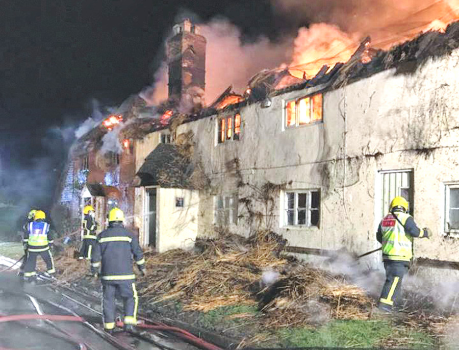 Firefighters tackle 12-hour fire