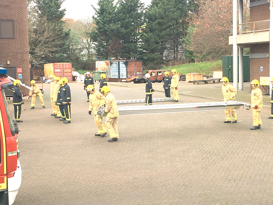 On-call fire recruits put through their paces