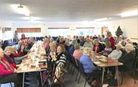 Firefighters help spread Christmas joy hosting a lunch for the elderly