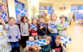 Wee ones celebrate Burns Night