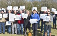 Protesters say 'no way' to motorway service station