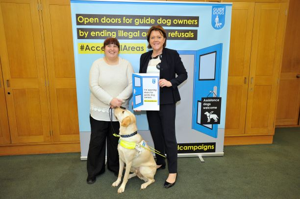 MP helps open doors for guide dog owners