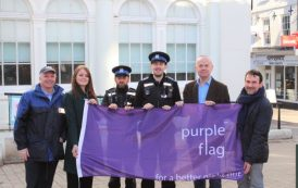 Purple flag continues to fly