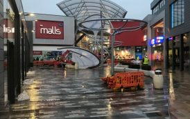 Shoppers disrupted as canopy collapses
